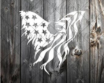 Eagle USA Flag - Car decal - Window decal - Laptop decal - Tablet decal - US flag decal