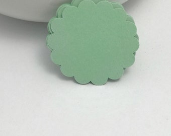 die cuts mint scalloped circle die cuts, gift tag, scrapbooking, journal spot, cupcake topper papercrafts card making stationery
