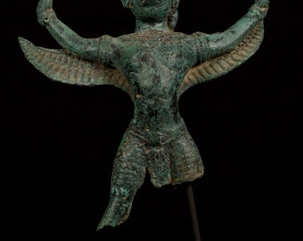 Antique Thai Style Southeast Asia Bronze Garuda Statue - 36cm/14""