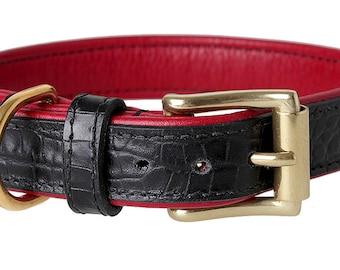 Dog Collar Millenium Rosso leather made in Germany