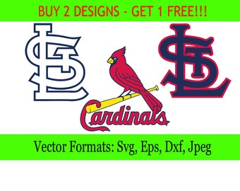 St.Louis Cardinals logos in SVG / Eps / Dxf / Jpg files INSTANT DOWNLOAD!