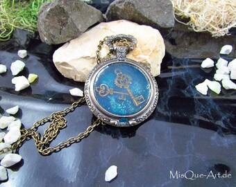 "Long necklace with pendant ""Secret of keys"""