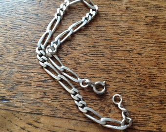 Vintage silver bracelet solid 18cm