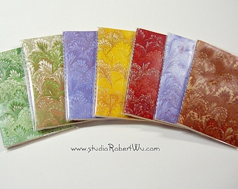"""Hand Marbled Paper Blank Note Book - 4"""" x 5"""""""