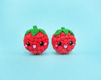 Earrings Raspberries Kawaii