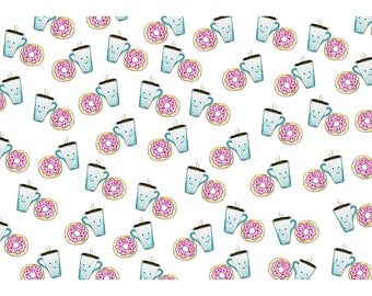 Coffee & Donuts A4 Card   We go together