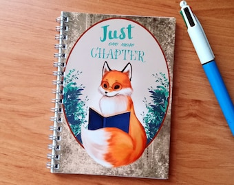 Little Fox player - cover illustrated, handmade notebook