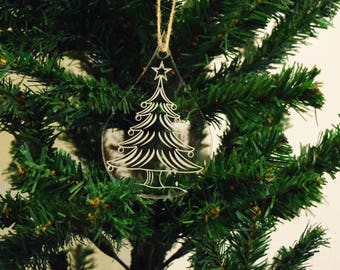 Bauble Christmas Decoration Teardrop Tree 3mm Acrylic Perspex®