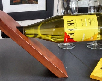 Balancing Wood Wine Bottle Holder/ Suter's Furniture Virginia/ Wine Lovers Gift/ Mother's Day Gift