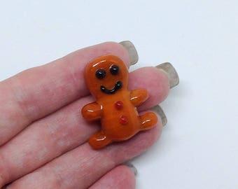 Gingerbread boy Lampwork focal