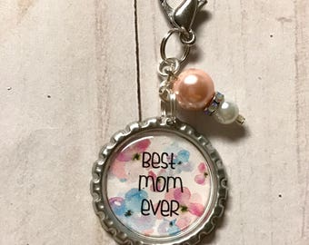 Best Mom Ever Keychain || Mother's Day Bottle Cap Keychain || Mother's Day Gift || Gift for Mom