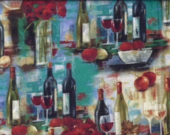 Teal Wine Curtain Valance