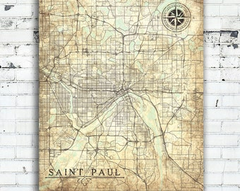 St paul mn large map Etsy