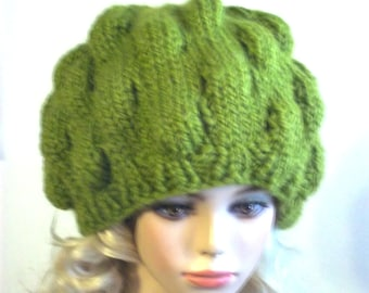 Knit  Slouch Hat  Pattern  PDF File