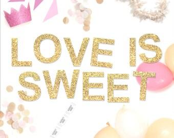 Love is Sweet Glitter Garland