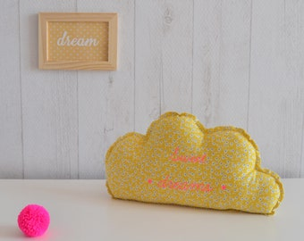 Decorative yellow, pink and white cloud