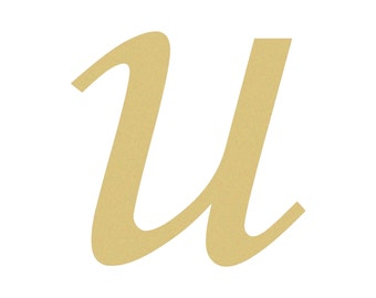 Unfinished LOWERCASE Letter (u) MONOTYPE Paintable
