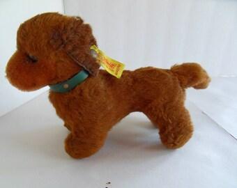 Steiff dog dachsund button flag made in Germany 2256
