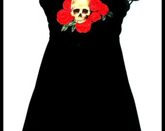 Skulls and Roses BabyDoll Dress....Size S/M