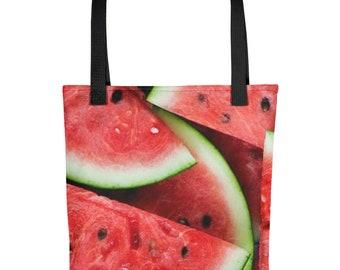 Watermelon Tote bag, Beach Bag, Carry All, Overnight Bag, Weekend Bag