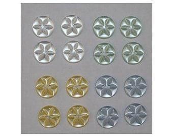 80 x buttons basic 14 mm Star 2 holes set H *-000847