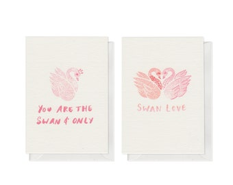 Swannin' Around, A7 Mini Card Pack of Two