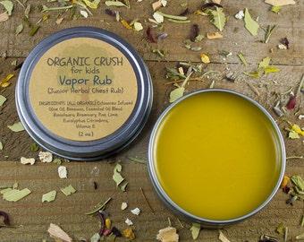 Kid's VAPOR RUB   Herbal Chest Rub for Children   Organic Vapor Rub for Kids   Natural Congestion Relief for Kids