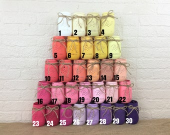 Painted Quart Mason Jars  30 Colors To Choose From