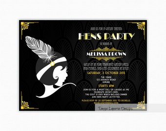 1920 S Party Gatsby Banner Art Deco Birthday Flapper
