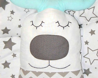 pillow deer,deer with horns,baby pillow deer,baby gift,pillow toy deer,a baby kit