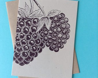 BLACKBERRY, GREETING CARDS, thank you notes, letterpress berries, grape cards, wine grapes, letterpress cards, Farmers note cards, vineyard