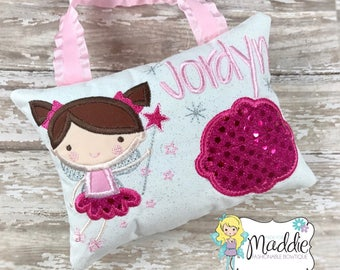 Tooth Fairy, Tooth Fairy Pillow, Personalized Tooth Pillow, Girls Tooth Pillow, Tooth Pillow, Personalized Pillow, Kids Embroidered Pillow