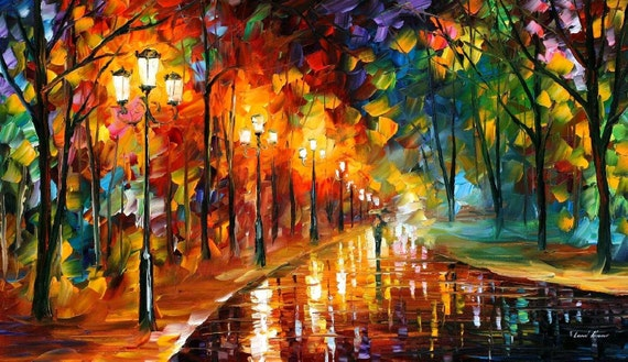Leonid Afremov Paintings Colorful Wall Art On Canvas Alley