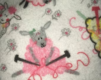 Adorable sheep lamb flannel fitted crib sheet toddler bed a farm nursery must!