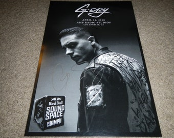 G Eazy signed poster 11x17