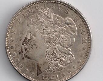 1921 US Silver MORGAN Silver Dollar Coin EF