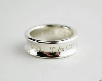 Authentic Stunning Tiffany & Co. 1837 Ring - Size 3 1/2 - 4 - Mint Condition!