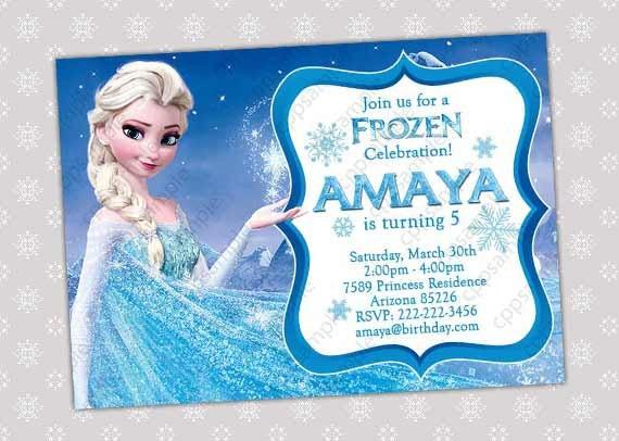 Items Similar To Elsa Frozen Invitation Frozen Birthday Invitation