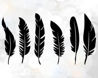 Boho Feathers SVG cut files, Boho Feathers SVG, Tribal Boho svg, Feather SVG Cut File,