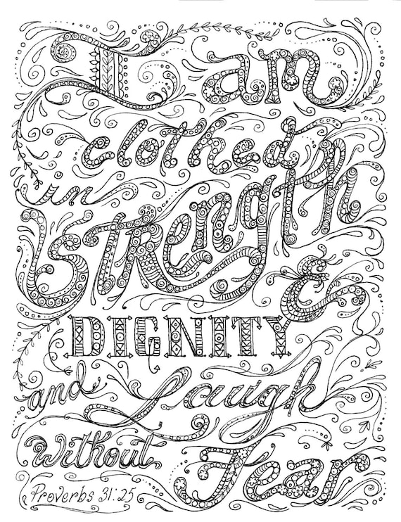 Instant Download Coloring Page Scripture Art To Color And