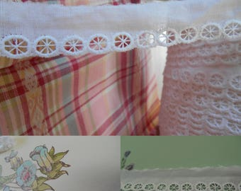 """4 Yards- White  Eyelet Trimming - 20mm wide- 3/4"""" wide -"""