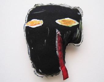 Black mask basquiat black artist love music 80' madonna new york  art wall hangings sculpture pop unisex gift mask gift birthday graduation