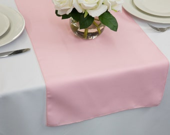 Pink Polyester Table Runner | Wedding Table Runners
