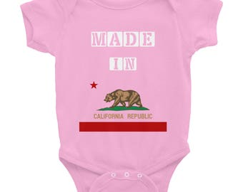 California Baby Onesie - California Baby Body Suit - Made In California - California Baby - California Baby Clothes