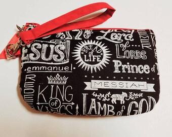 Christian - Zipper Pouch, Coin Purse, Key Chain, Gift for her, Christian gift, Gift for a new Christian