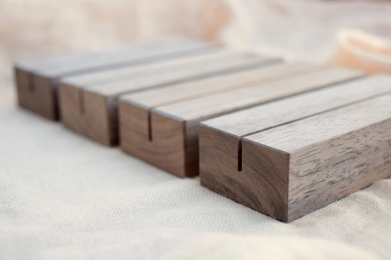 Well-liked Wood Table Number Holders Set Walnut Wood Wedding table DN31
