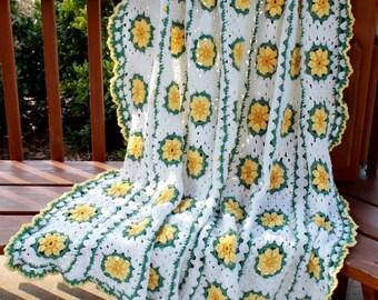 Daisy Afghan Crochet Pattern PDF