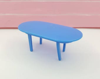 Marx Dining room  Table  Toy Dollhouse Traditional Style Soft  plastic
