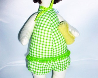 Swimmer Lady - Green - collectable doll