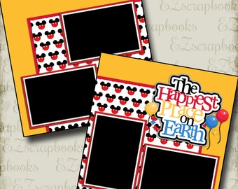 HAPPIEST PLACE On Earth  - 2 Premade Scrapbook Pages - EZ Layout 2230